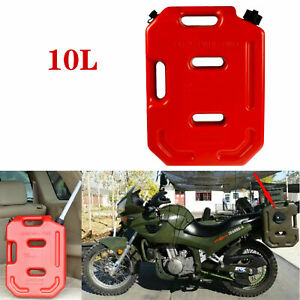10L Oil Can Gas Spare Container Pot Anti-static Can Fuel Tank Pack Red Plastic