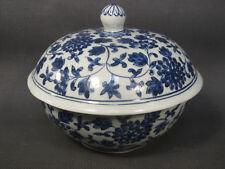 Ancien pot à bonbons ou thé en porcelaine asiatique bleu de chine tea pot