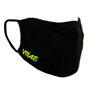 VR46 Rossi Protective Face Covering Mask Double Layer Washable Reusable- Black