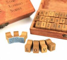 Sonderposten - Buchstabenstempel - Alphabet - Groß - Holzbox