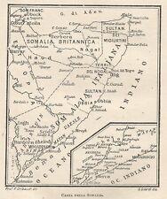 C2131 Somalia - Mappa d'epoca - 1922 vintage map