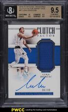 2018 National Treasures Clutch Factor Luka Doncic RC AUTO /99 #47 BGS 9.5