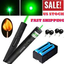 2Pcs 990Miles 532nm Astronomy Laser Pointer Pen Green Lazer Beam Light+Batt+Char