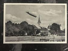 1931 Frankfurt Germany Graf Zeppelin RPPC postcard Cover LZ 127 On Board Cancel