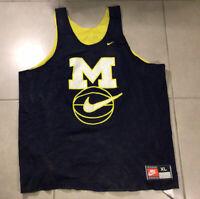 VTG Michigan Wolverines XL NCAA Basketball Nike Fab 5 Reversible Jersey Tank Top