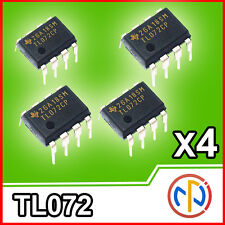 4x TL072CP Amplificatore Operazionale J-FET =NJM072 Dual Operational Amplifier