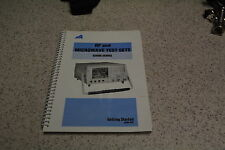 User Manual for Ifr Marconi 6202B 10Mhz - 2Ghz Rf Test Set_Used