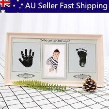 Baby Hand & Foot Print Ink Imprint Photo Picture Frame Christening Keepsake Gift