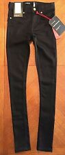 NWT $49.99 Cotton On Womens Black Skinny Spry On Fit & Skin Tight Jeans Size 26