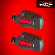 Seizmik Pursuit Red Elite HD Side View Mirrors -Polaris RZR XP 1000 900 800