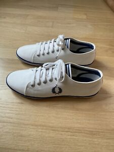 Mens Fred Perry White Kingston Shoes