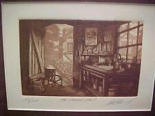 GARDEN SHED SCOTT FITZGERALD ETCHING 146/200 LIMITED EDITION FRAMED Superb COND