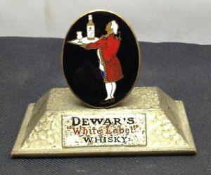 Lovely Rare Vintage 1928 Dewar's White Label Whiskey Enamel Menu Holder SU1074
