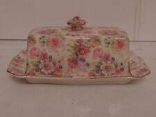 Vintage Royal Winton Chintz Shrewsbury Butter Dish