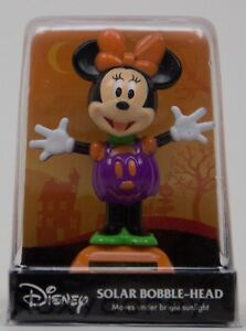 Halloween Disney Minnie Mouse Solar Bobble Head Figure Decoration NIP