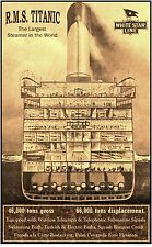 White Star Line RMS Titanic  Cutaway Poster  12 x 18