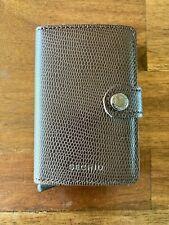 New Leather Secrid Mini Wallet Rango Brown Lizard $95