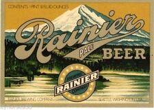50 Vintage Rainier Brewing Company Co. Pale Beer Bottle Labels Mint Gem New NOS