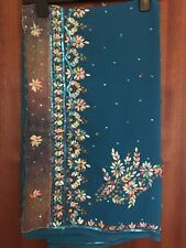 Indian Blue Saree INTRICATE EMBROIDERY