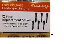 Malibu outdoor lighting with low voltage equipment ebay 6 new malibu light replacement stakes 8150 0800 6 landscape lighting skyline pro mozeypictures Gallery