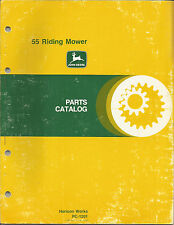 John Deere 55 Riding Mower Parts Catalog