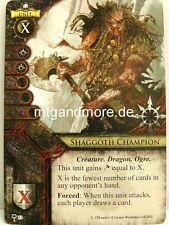 Warhammer INVASION - 1x Shaggoth CHAMPION #033 - Oaths of Vengeance