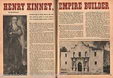 Texas Ranger Empire Builder Henry Kinney