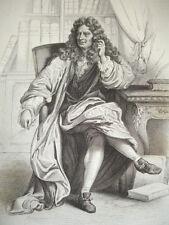 SIÈCLE DE LOUIS XIV / GRAVURE 1840 / BOILEAU