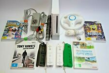 NINTENDO WII SET + 4 GAMES + 2 Controllers + MORE + Cables + Tested