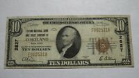 $10 1929 Cortland New York NY National Currency Bank Note Bill! Ch #2827 FINE