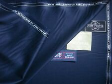 "John Foster 100% Pure Escorial ""DK. Bleu marine"" drap tissu MADE IN ENGLAND - 3.4 M"