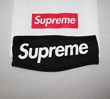 Supreme Streetwear Hypebeast Black Fleece Headband Classic Box Logo FW Lined