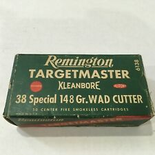 Vintage Remington .38 Special 148 Grain Wadcutter Red Green Ammo Box Empty