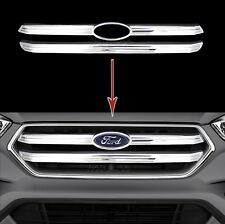 16-18 Ford Escape CHROME Snap On Grille Overlay 2 Bar Grill Trim Covers Inserts