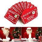 Merry Christmas Santa Claus Envelope Xmas Tree Ornaments Kids Card Bags Gifts