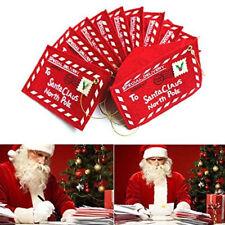 Merry Christmas Santa Claus Envelope Bag Xmas Tree Hanging Decor Kid Gift Card