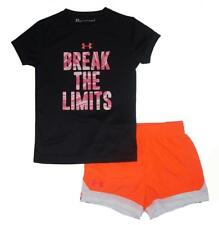 Under Armour Girls S/S Break The Limits Dry Fit Top 2pc Swim Short Set Size 5