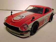 1972 Datsun 240Z Diecast Car 1:24 JDM TUNERS Jada Toys Metals 8 inch RED NO BOX