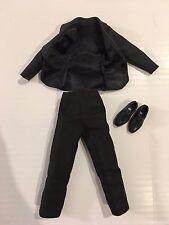 Barbie KEN Doll Black Tuxedo Suit Jacket Pants and Stamped Shoes