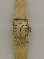 Vintage Rolex Ladies 14k Yellow Gold Wrist Watch Estate