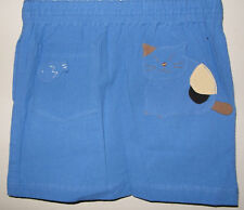 New 100% Cotton Girls Skirt Blue Size Age Medium M 6-8 Years
