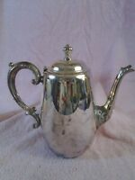 Vintage Silver Plate Spring Flowers Pattern Coffee or Tea Pot by Wm Rogers & Son