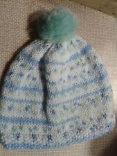 Hand Knitted Newborn Baby bobble hat