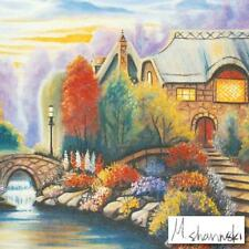 """MICHAEL SHARINSKI """"BECKY'S COTTAGE"""" LIMITED EDITION MIXED MEDIA HAND SIGNED. NEW"""