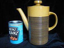 Vintage T G Green Sark Honey Black Coffee Pot - stripe brown tea