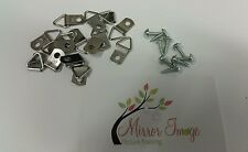 100 x Professional Picture Framing D-Rings with Screws