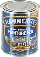 Peinture fer Hammerite Antirouille martele Gris Ardoise Direct sur rouille 0.75l