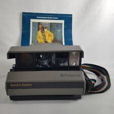 Polaroid Spectra System AF Camera Vintage Untested Strap Gray Instruction Manual