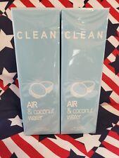 NEW x2 CLEAN FRAGRANCE Air & Coconut Water  EAU FRAICHE SPRAY PERFUME 5.9