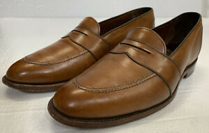Allen Edmonds Westchester Penny Loafers Dress Shoes - 8.5 - Walnut Brown Leather